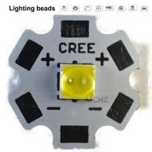 цена на 20pcs 5060 power 3W PCS Cree XPE XP-E /XTE XT-E/XPG XP-G 3535LED PCB Aluminum board 20mm For DIY LED