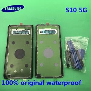 Image 2 - Originele Terug Batterij Cover Samsung Galaxy S10 G977 G977F 5G versie Achter Deur Behuizing Glas Panel Vervanging Deel + GEREEDSCHAP