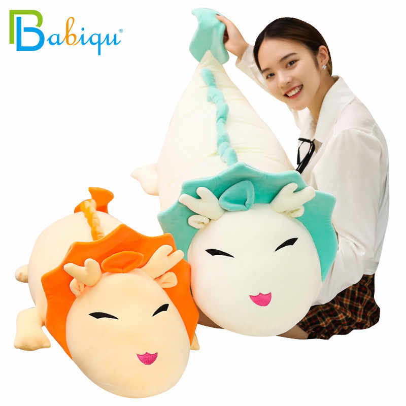 90 130cm Big Soft Cartoon Dragon Anime Miyazaki Hayao Spirited Away Haku Cute Doll Plush Toys Pillow Dolls Gift For Kids Girls Stuffed Plush Animals Aliexpress