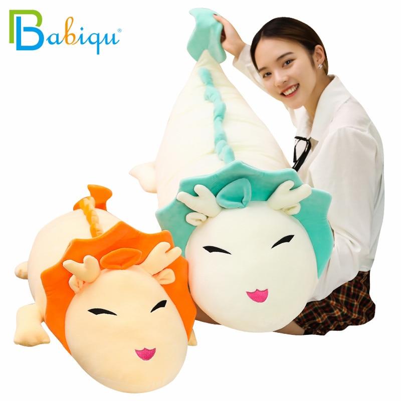90-130cm Big Soft Cartoon Dragon Anime Miyazaki Hayao Spirited Away Haku Cute Doll Plush Toys Pillow Dolls Gift for Kids Girls