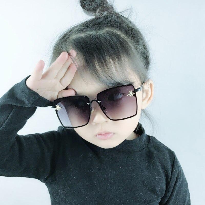Óculos de sol quadrados infantis, óculos escuros grandes para meninos, meninas, designer de marca de luxo, uv400 2020
