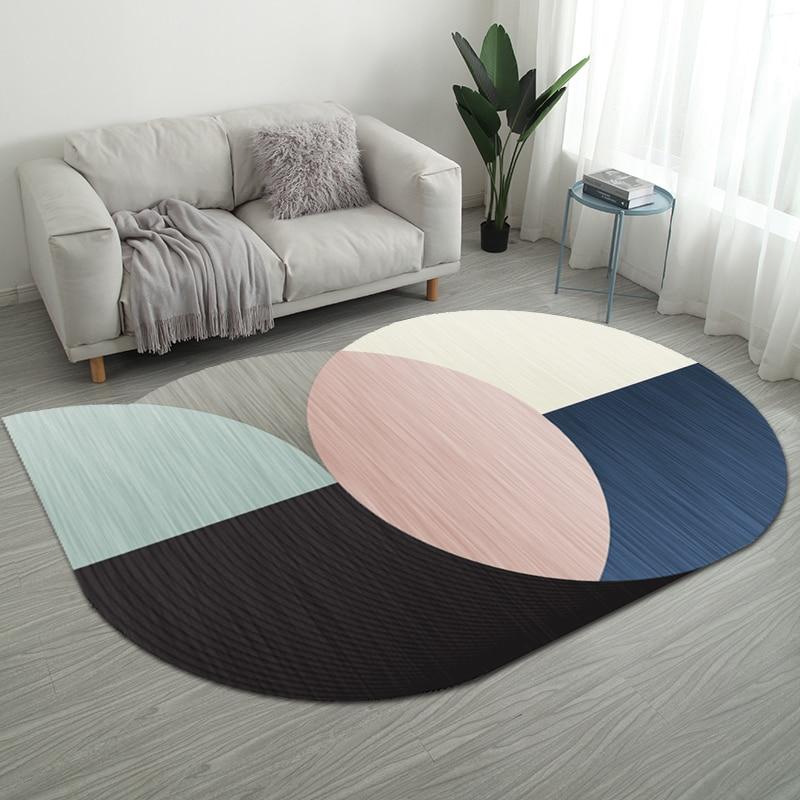 Nordic нерегулярные геометрический Коврик дома Гостиная коврики для ванной комнаты творческий Спальня прикроватные покрывало, плед исследование Йога Teppich коврик - Цвет: Style 11