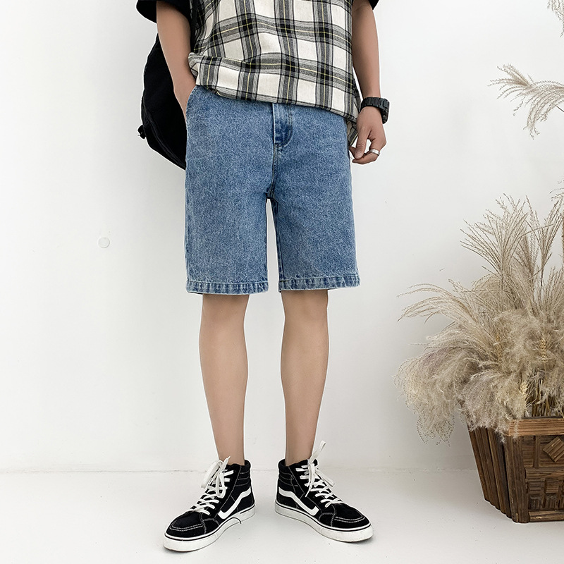 Summer Shorts Jeans Shorts Straight-leg Pants Casual Fashion City Youth Versatile Outdoor Teenager Men's Trousers