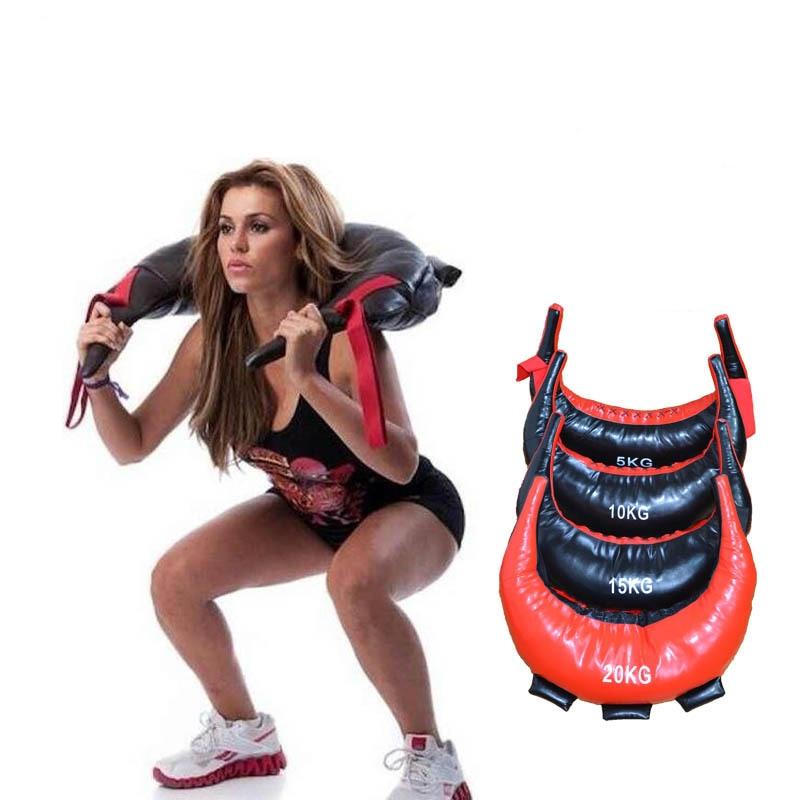 5-25kg Bulgarian Power Bag PU Leather MMA Boxing Punching Bag Strength Exercise Sandbag Fitness Boxing Training Sand Bag Empty