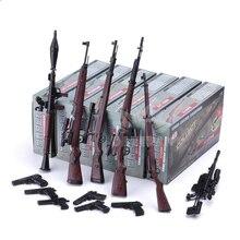 6 Teile/satz 1:6 4D Montage Gewehr Pistole Modell 1/6 98K RPG SVT-40 M200 38 Gewehr 12 inches Action Figur waffe Spielzeug