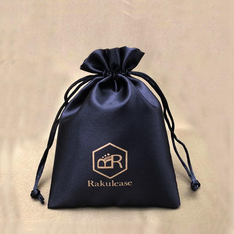 Silk Satin Makeup Bags Packaging Jewelry Hair Wigs Bundles Drawstring Bag Wedding Party Shoe Cloth Bags 20PCS
