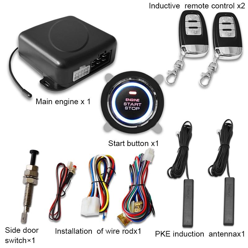 Q608 car one key start, remote ignition start, keyless entry system, remote boot, PKE full function one key start