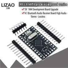 Wavgat pro mini 168 mini atmega 168 5v/16mhz, para arduino, compatível com nano microcontrole, placa micro controle