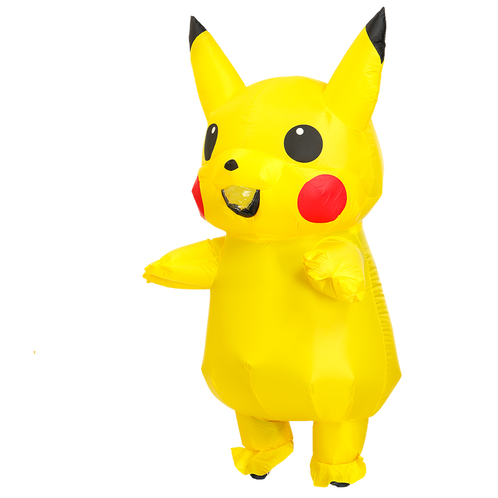 Inflatable Costume Mascot Lovely Yellow Pika For Kids Adult Christmas Carnaval Halloween Fancy Party Dress