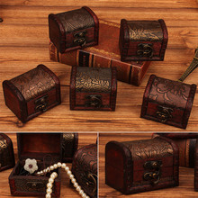Caja de madera hecha a mano organizador joyería pulsera perla caja de regalo caja de almacenamiento