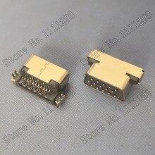 5 Stks/partij Vga Jack Connector D SUB 15P F R/Een Dip Voor Lenovo Samsung Hp Dell Etc Laptop crt Poort
