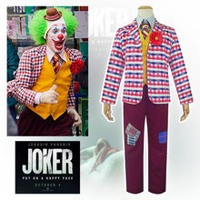 Joaquin Pheonix Joker Cosplay Kostuum Deluxe Boerenbont Pak Authur Fleck Joker Volledige Set Circus Clown Kostuum Halloween Fancy Dress(China)