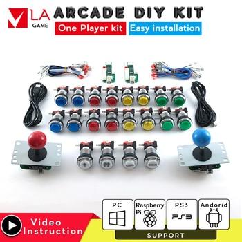 2 player arcade cabinet diy arcade zero delay encoder kit arcade copy sanwa joystick USB to PC Rasberry PI 5V LED push button