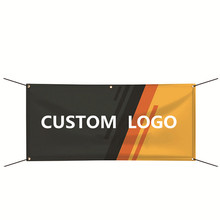 Custom Logo and Size Vinyl Banner 2x4ft Indoor Outdoor Decoration Hanging Flag Customized Banner