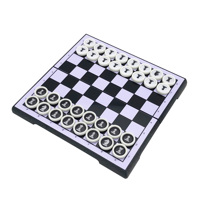 Hot Creative Mini Portable Magnetic HIPS Plastic Chess Set Circular Pieces For Friends&Childrens Entertainment Gift Board Games