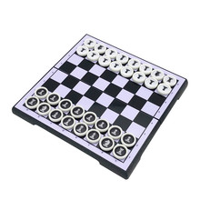 Chess-Set Circular-Pieces Magnetic Mini Entertainment Games Gift-Board Plastic Children's