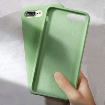 Original Soft Summer Liquid Silicone Case for iPhone X XR XS Max 8 7 6 6S Plus Gel Rubber Shockproof Cover Full Protective Cases image