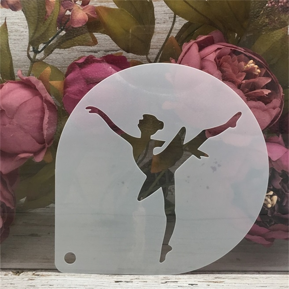15cm Ballet Dance Girl D DIY Craft Layering Stencils Painting Scrapbooking Stamping Embossing Album Paper Card Template