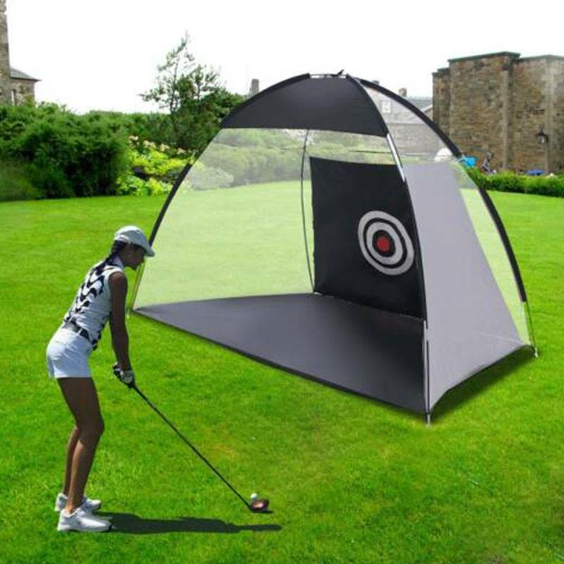 2m*1.4m*1m Golf Practice Net Golf Hitting Cage Garden Grassland Practice Tent Golf Training Equipment Indoor Outdoor