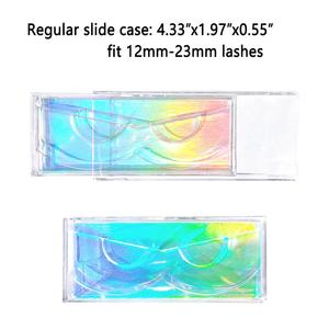 Image 4 - 40 pieces/lot Professional Sliding cover Cases with Holders for Full Strip Eyelashes Transparent Case for 3D Mink Hair Lashes