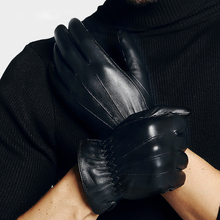 Genuien Leather Gloves Male Spring Autumn Fashion Thin Sheepskin Man Classic Black Driving TU0912A