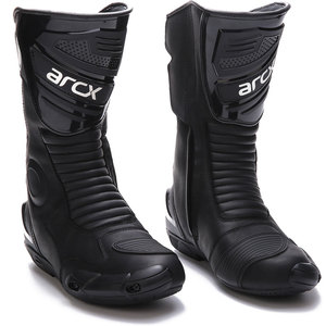 Image 2 - how yes ARCX men motorcycle boots professional motorcross racing boots windproof shoes free shipping  black color