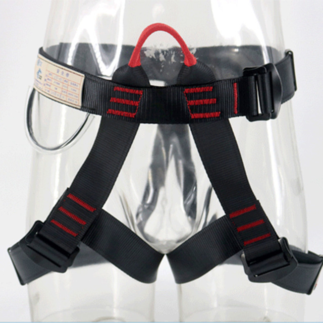Outdoor Climbing Safety Belt Rock Climbing Harness Waist Support Half Body Harness Aerial Survival Equipment