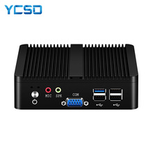 YCSD bez wentylatora Mini PC podwójny LAN Celeron N2810 J1900 minikomputer 2 * Gigabit LAN Windows 7 10 WIFI USB pulpit Micro Htpc Nuc Ps
