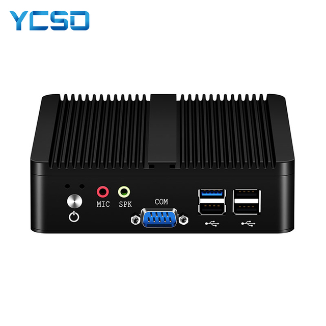 YCSD Fanless Mini PC Dual LAN Celeron N2810 J1900 Mini Computer 2*Gigabit LAN Windows 7 10 WIFI HDMI USB Desktop Micro Htpc Nuc