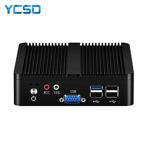 Image 1 - YCSD 팬리스 미니 PC 듀얼 LAN 셀러론 N2810 J1900 미니 컴퓨터 2 * 기가비트 LAN Windows 7 10 WIFI HDMI USB 데스크탑 마이크로 Htpc Nuc