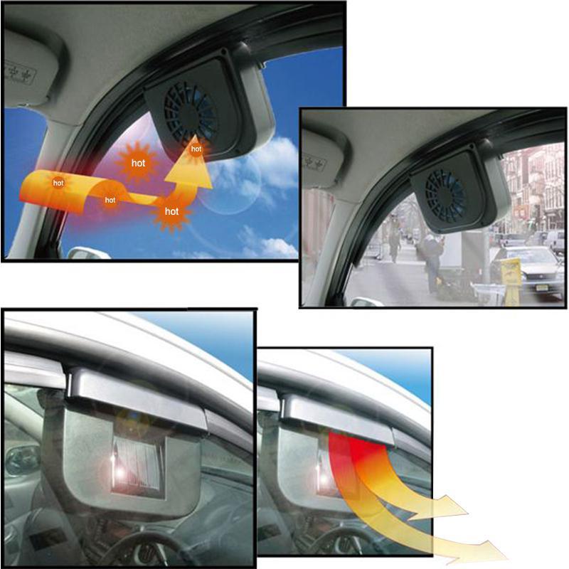 Ventilateur solaire pour refroidissement habitacle de voiture autonome