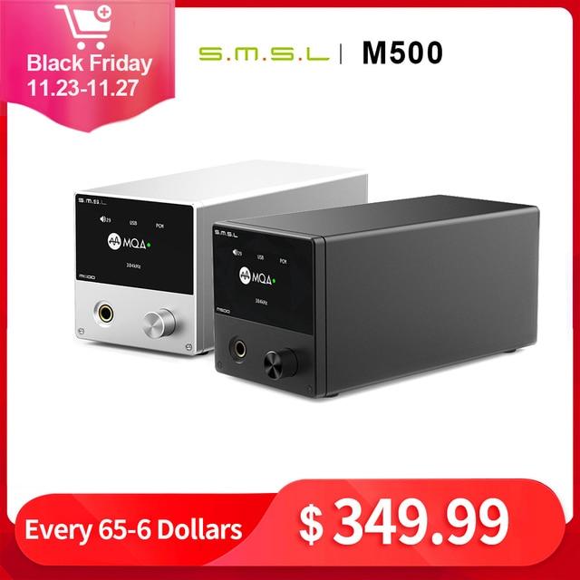 SMSL M500 MQA dac مضخم ضوت سماعات الأذن ES9038PRO فك الصوت USB DAC XU216 DSD512 XMOS محلل شفرة سمعي