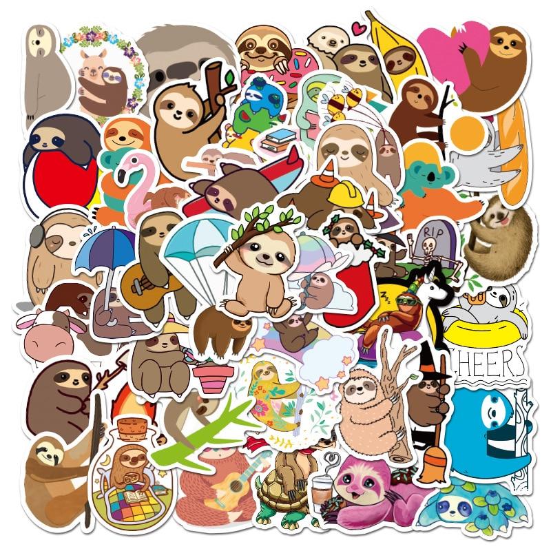 BH1035 Blinghero Cartoon Sloth Stickers 50 Pcs/set Graffti Sticker Luggage Laptop Car Sticker Scrapb