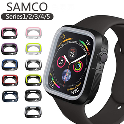 SAMCO Silicone cover For iWatch 5 case 44mm 40mm iWatch case 42mm/38mm Bumper Protector Apple watch series 3 4 2 Accessories 44