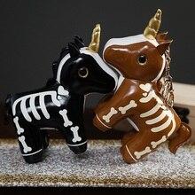 Bag Keychain Doll Dinosaur Animal Luminous-Unicorn Stuffed Cartoon Soft Pendant Gifts