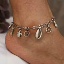 Новые модные ювелирные изделия женские ножные браслеты с кулоном
