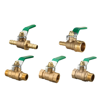 Water Heating Accessories Ball Valve 1/4 3/8 1/8 1/2 3/4 BSPT Female Male Thread Barb 8/10/12mm For Tap water On-Off Valve free shipping slseries 4 6 8 10 12mm adjustable joint throttle valve pneumatic element m5 01 02 03 m5 1 8 1 4 3 8