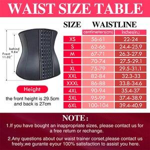 Image 3 - Burvogue Women Corset Waist Trainer Latex Corset Waist Control Corset and Bustier Steel Bone Underbust Slimming Shaper Corselet
