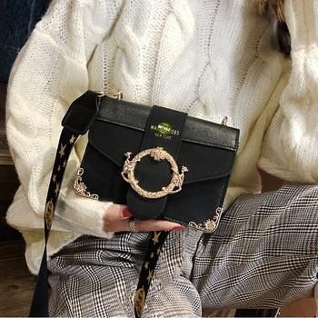 Brand Women Messenger Bag Broadband Shoulder Bag Fashion Small Square Bag Leather Luxury Handbag Women Bags Designer Bolso Mujer