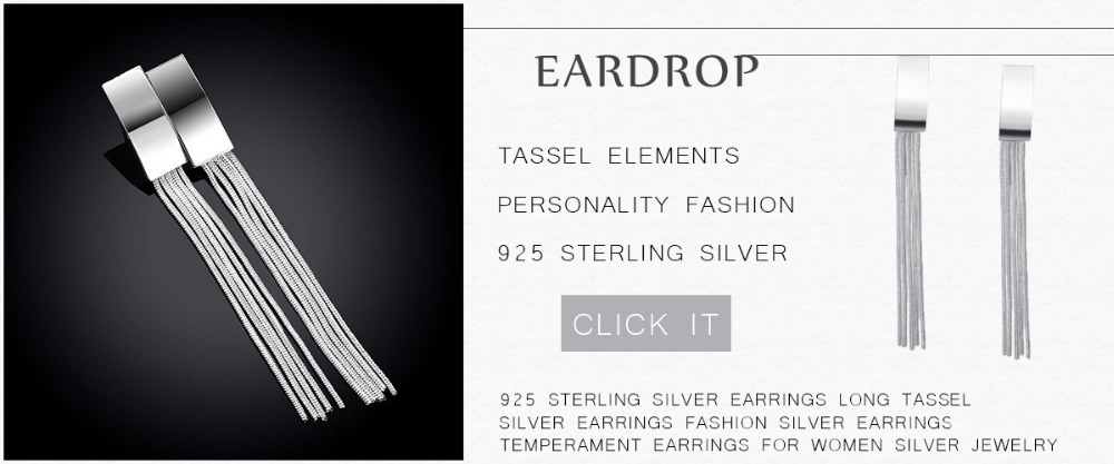 Hf9dc5d0efcd14d50a52e5929e630169aT - 925 Sterling Silver Earrings Long Tassel Silver Earrings Fashion Silver Earrings Temperament Earrings For Women Silver Jewelry