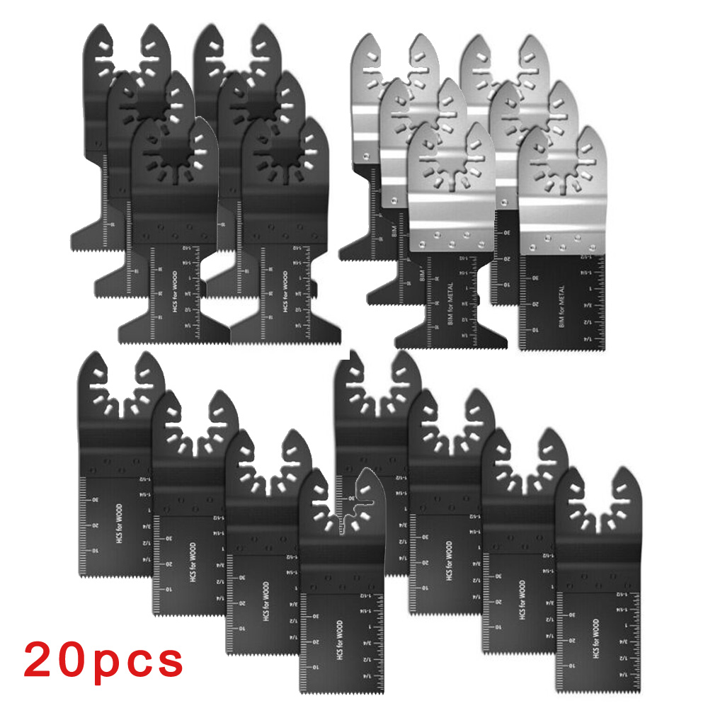 20pcs/Set Multi Oscillating Cutting Saw Discs Tools For Fein Bosch Multimaster Bi-Metal Saw Disc 2020 New High Quality