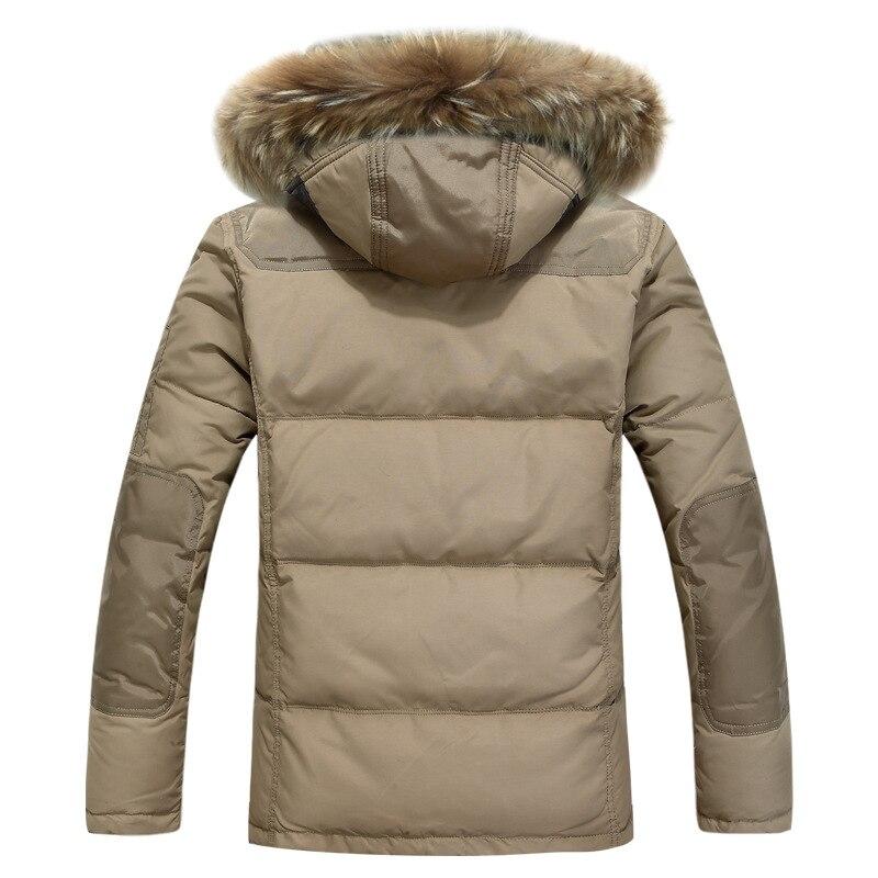 Мужская Новинка 2019, пуховик, повседневная мужская зимняя куртка, ветровка, белая куртка на утином пуху, Мужская толстовка/пальто для мужчин/Мужское пальто - 3