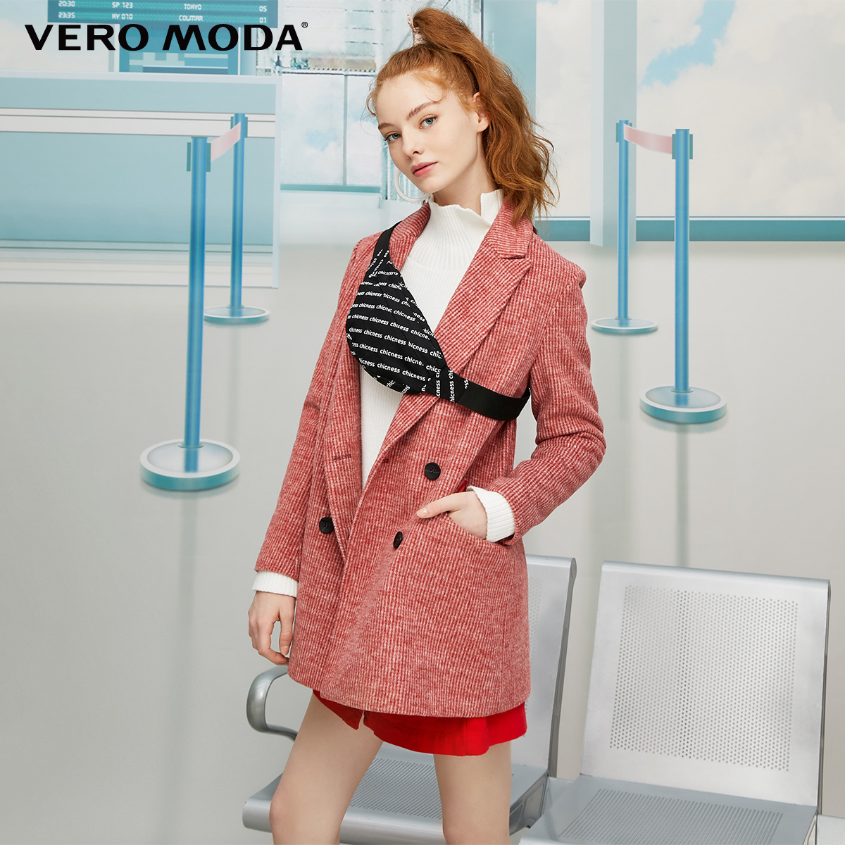 Vero Moda New Vintage Women's Lapel Double-breasted Blazer Suit Jacket | 319308589