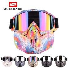 Мужские и женские лыжные очки queshark для сноуборда снегохода