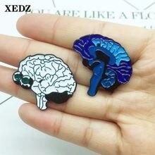 Брошь в виде мозга xedz голубая и белая брошь форме со сложной