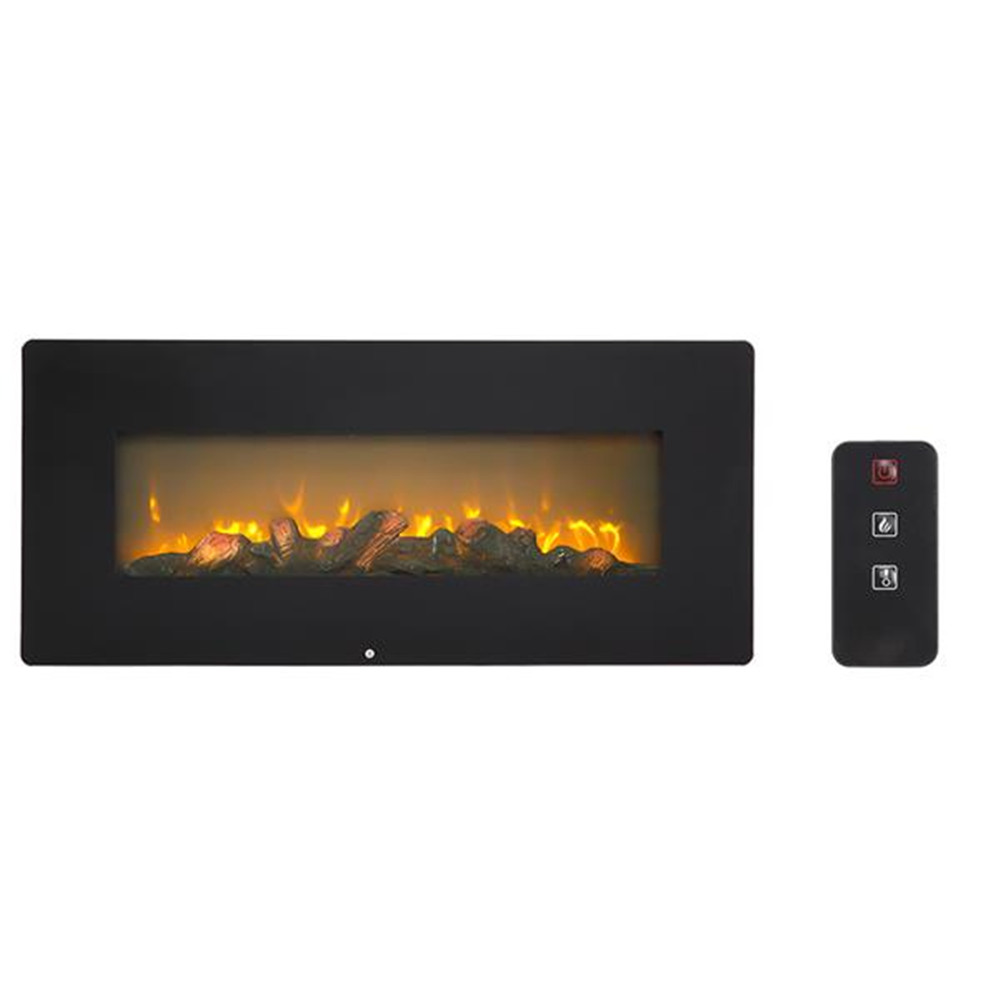 SF310-42AX 42 Inch 1400W Wall Hanging / Fireplace Single Color / Fake Wood / Heating Wire / With Small Remote Control Black