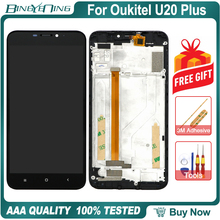 "BingYeNing 5.5"" For Oukitel U20 Plus LCD&Touch screen Digitizer with frame display Screen phone accessories assembly replacement"
