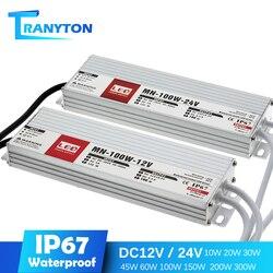 Светодиодный светильник 12 В постоянного тока, 24 В, IP67, водонепроницаемый светильник, трансформатор для наружного освещения, 12 В, источник пи...