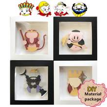 DIY Craft Kits of Chiniese Myth Story Journey To The West Material Package Paper Frame Decoration For Kid Christmas Origami Gift