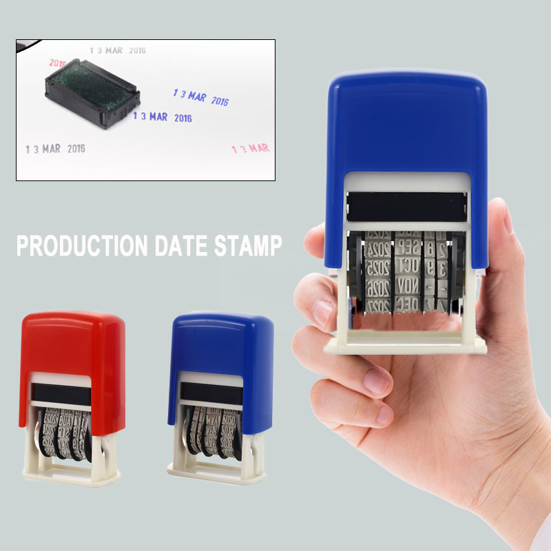 Stamping Mud Set DIY Handle Account Date Stamps 2016-2027 ABS Retro Home Student English Convenient Wheel Dater Art